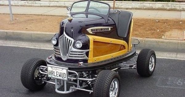 Cash For Clunkers >> Woody bumper car body on a go cart frame. Looks like it is ...
