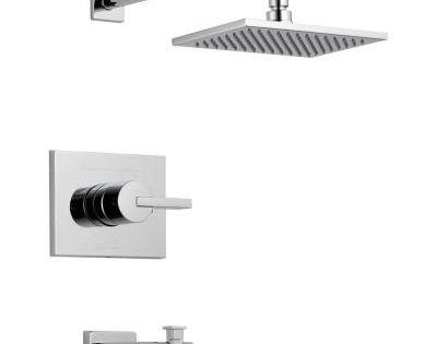 delta vero 1 handle tub and shower faucet trim kit only in. Black Bedroom Furniture Sets. Home Design Ideas