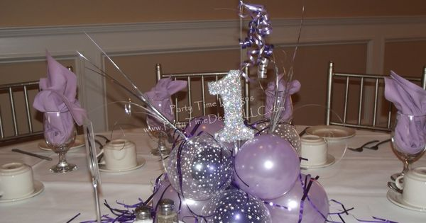 Balloon cluster base with glitter st birthday pinterest