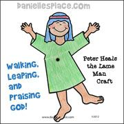 Walking Leaping And Praising God Activity Sheet For Peter Heals