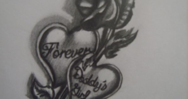 Daddy 39 s girl tattoos designs forever daddys girl by for Daddys girl tattoo