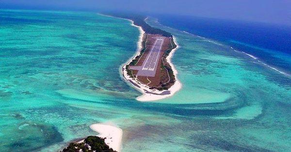 Agatti airport runway, Lakshadweep Airfield, India