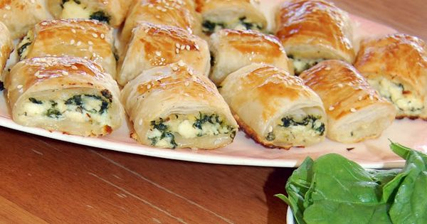 Spinach and Ricotta Rolls. Also good finger food for parties