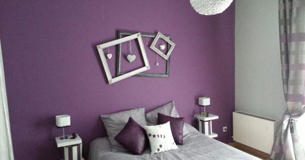 Chambre violette et grise chambre ado pinterest for Chambre violette