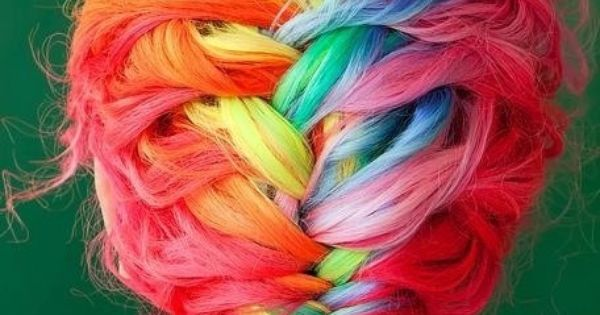 rainbow hair alternativehair rainbowhair hairstyle
