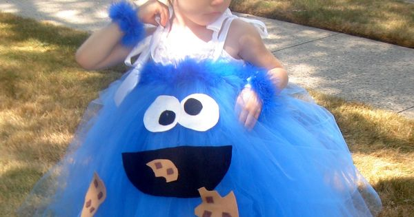 Cookie Monster Tutu Costume Idea ~