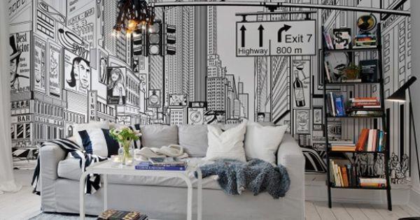 Rebel walls foto behang interiors wallpaper behang woonkamer behang slaapkamer trendy - Wallpaper volwassen kamer trendy ...