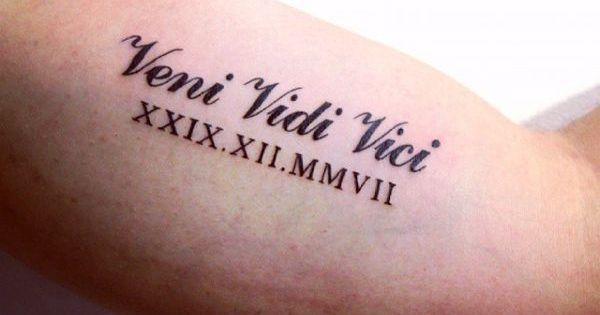Desenho De Boa Noite: 17 Veni Vidi Vici Tattoo Ideas And Designs With Pictures