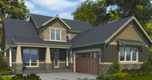 House plan 48 267 craftsman l shape house layout for L shaped craftsman home plans