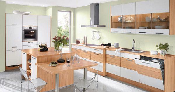 k che in kernbuche nachbildung und wei matten fronten. Black Bedroom Furniture Sets. Home Design Ideas