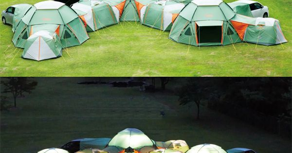 Awesome tents that zip together can form a camping fort… just can't
