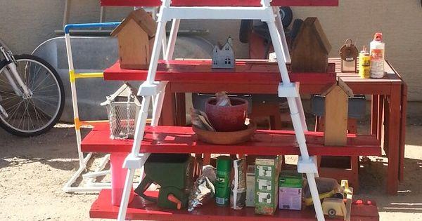 Old pool ladder scrap lumber reduce reuse recycle pinterest pool ladder and yards - Leroy merlin arbor ...