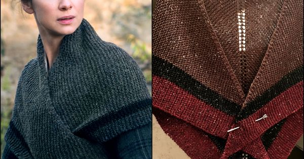 Knitting Pattern For Outlander Shawl : Get your own Outlander Claires shawl hand knit from http://knitzyblonde....