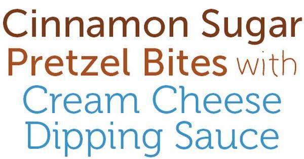 Copycat Auntie Anne's Cinnamon Sugar Pretzel Bites with Cream Cheese Dipping Sauce