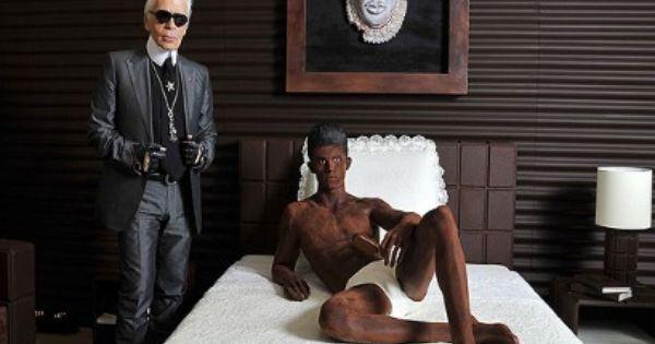 Karl Lagerfeld's chocolate toyboy