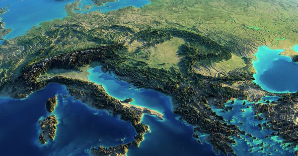 Fascinating Relief Maps Show The World's Mountain Ranges - Album on Imgur