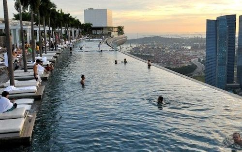 Singapore, Marina Bay Sands Hotel infinity pool -- definitely a place to