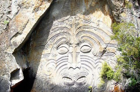 Ancient wall carvings new zealand world nature