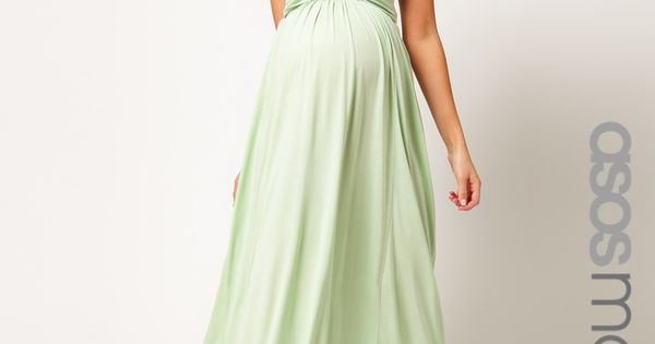 ASOS Maternity | ASOS Exclusive Maternity Maxi Dress In Jersey With Grecian