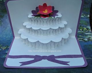 Extreme Cards And Papercrafting Silhouette Studio Pop Up Cards Wedding Cake Cards Pop Up Card Templates