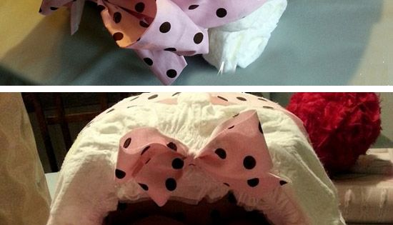 DIY Diaper Bassinet | Click Pic for 35 DIY Baby Shower Ideas