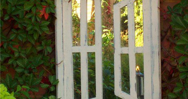 Illusion Garden Mirrors Double Opening Windows (Portrait