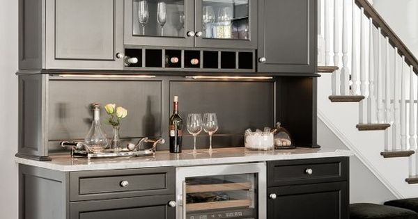 Decoration: The Best Design Of Wet Bar For Small Space With Black