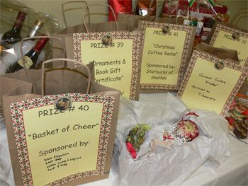 Some Of The Raffle Ticket Bags For Prizes At The Echo Hose Hook Ladder Company S Fifth Annual Festival Of Fundraiser Raffle Fundraiser Baskets Ffa Fundraiser