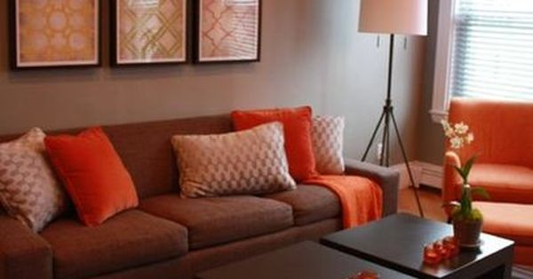 Living Room Brown And Orange Design, Pictures, Remodel, Decor And Ideas    Page 2 | House Decor Ideas | Pinterest | Living Room Brown, Orange Design  And ... Part 38