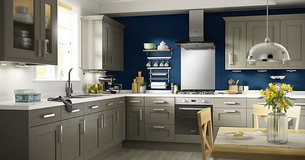 Cooke lewis carisbrooke taupe kitchen ranges kitchen for Kitchen 0 finance b q