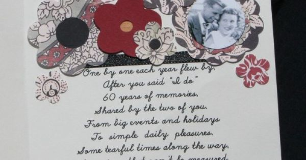 Diamond Wedding Anniversary Gifts For Grandparents: Free 60th Wedding Anniversary Poems
