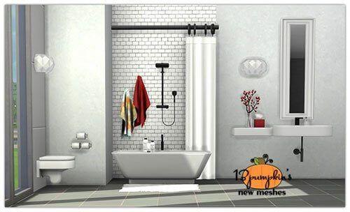 Senza Bathroom For The Sims 4 Spring4sims Sims 4 Bathroom Sims 4 Cc Furniture Sims 4 Cc Bathroom