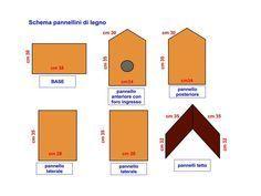 Schema Per Costruire La Casetta Per Uccelli Casette Per