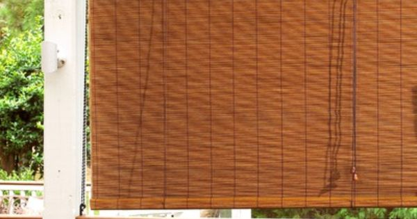 Radiance Imperial Matchstick Bamboo Roll Up Blind With 6