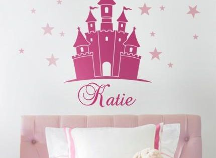 Princess Castle Wall Decal With Personalized Name Wall Decals