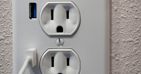 Good idea. Fastmac U-Socket USB/Power Outlet: The two USB ports are USB