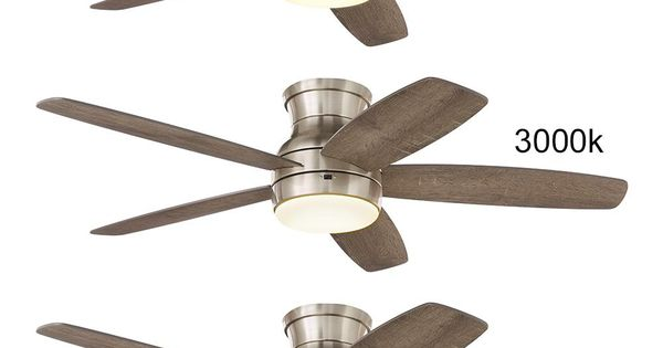 Home Decorators Collection Ashby Park 52 In White Color Changing Integrated Led Brushed Nickel Ceiling Fan With Light Kit And Remote Control 59252 Ceiling Fan Ceiling Fan With Light Brushed Nickel Ceiling Fan