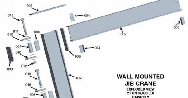 Column Mounted Jib Crane Welding Plans 2 Ton Capacity Welding Projects Welding Welding Art