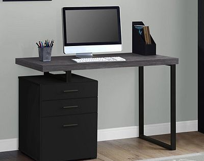 Gray Top Westley 3 Drawer Computer Desk Desk With Drawers Desk