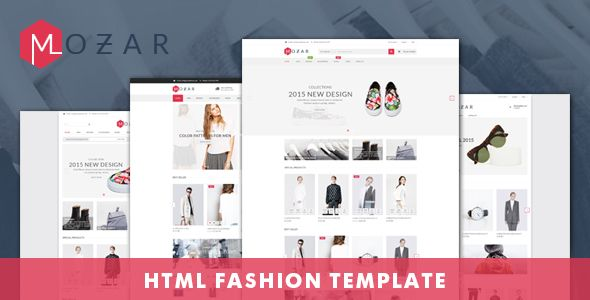 Mozar Fashion Clothing Shop Ecommerce Html Template With Images Shopify Theme