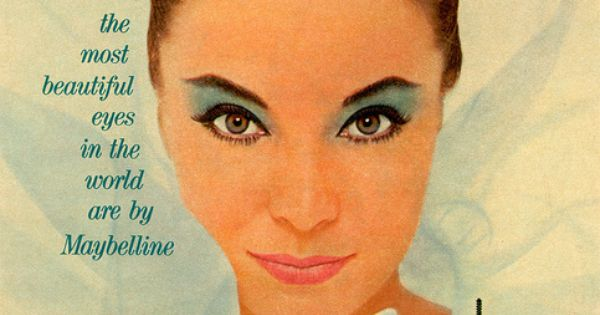 Maybelline makeup... when blue eyeshadow was KING! 1960's ...