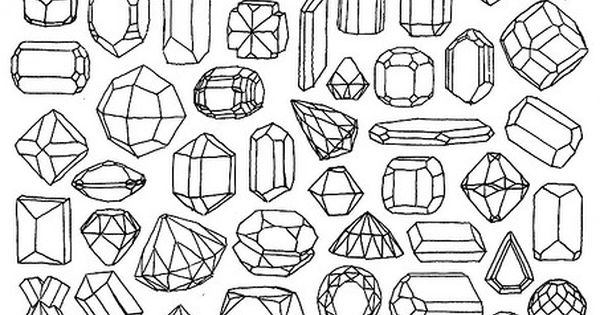 Minerals gems drawings and shrink plastic for Gem coloring pages