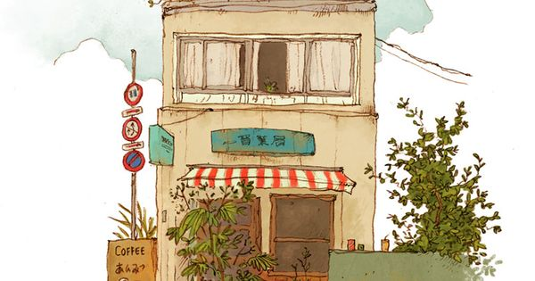 QinLeng: Tokyo Street Print ~ Coffee Shop