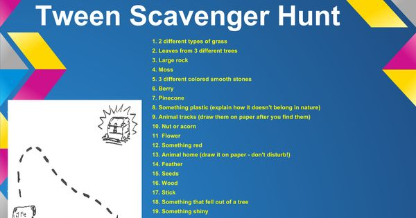 This summer scavenger hunt ideas kid scavenger hunts and tween
