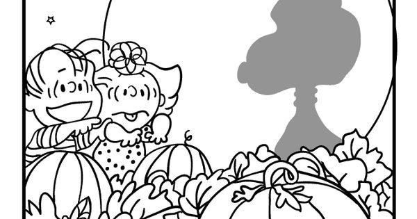 linus great pumpkin coloring pages - photo#10
