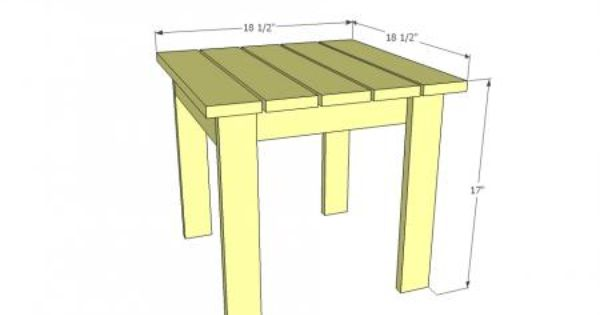 Small Wood Outdoor Coffee Table