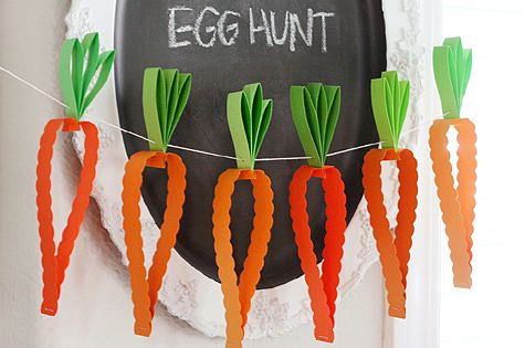 Cute & Easy Easter Decor from Easter Egg Hunt / Easter |