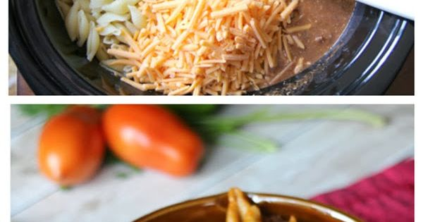 Easy Slow Cooker Taco Pasta Recipe ~ A combination of two family