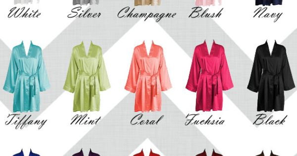 wedding ideas that are different personalized satin robes choose from 15 colors by 27781