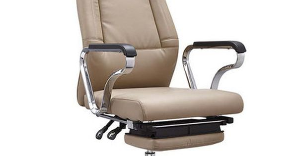 Tilt Chrome Leather Reclining Office Chair Footrest Headrest China Staff Office Chairs Leisure Seating Fac Reclining Office Chair Stylish Office Chairs Chair